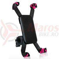 Suport telefon ROCKBROS Black/Pink SZ5001P
