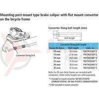 Surub adaptor Shimano, M5 x 41.8 pt. prindere spate de 35mm BR-RS785