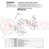Surub anchor link Shimano BR-MC16 M6x13.5