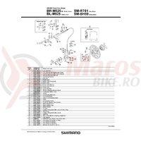 Surub de fixare etrier frana pe disc Shimano BR-M525 M6x24.5