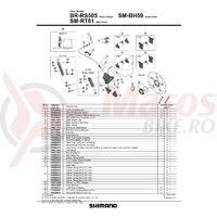 Surub de fixare etrier frana pe disc Shimano BR-RS505 25mm
