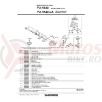 Surub de fixare pentru placute de pedale Shimano PD-R540 M5x8mm/ 1buc.
