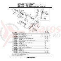 Surub exterior pentru reglare schimbator Shimano RD-6600