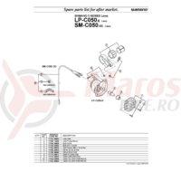 Surub pentru colier Shimano LP-C050 + Piulita