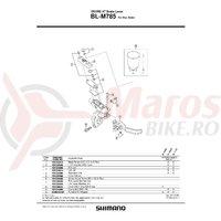Surub pentru reglaj Shimano BL-M785 M4x12 & placa
