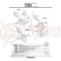 Surub pentru reglaj Shimano FD-M665 M4X10 & placa