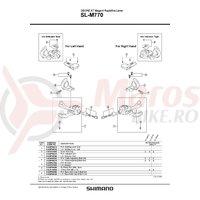 Surub pentru reglare cablu Shimano SL-M770 stanga