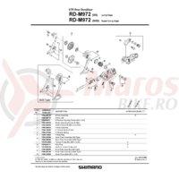 Surub pentru role schimbator spate Shimano RD-M970