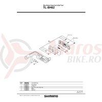 Surub + Piulita pentru dispozitiv Shimano TL-BH62
