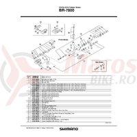 Surub pivot ansamblu Shimano BR-7800 fata surub pivot 37.8mm (1-1/2