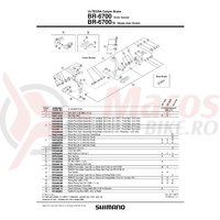 Surub pivot Shimano BR-6700 fata 52.5mm (2-1/16