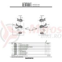 Surub pt. reglare cablu Shimano SL-M7000 stanga