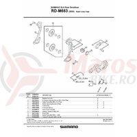 Surub rola ghidare Shimano pt. RD-M950