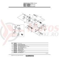 Surub role schimbator spate Shimano RD-7800(2BUC).