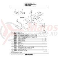 Surub Shimano pentru reglare cablu de frana Shimano BR-5700