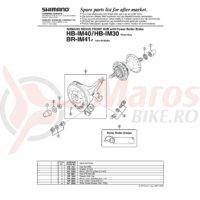 Surub Shimano pentru reglare cablu de frana Shimano BR-IM41-F/R