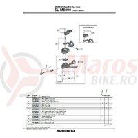 Surub Shimano pt. reglare cablu SL-M8000 dreapta
