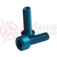 Surub aluminiu pentru suport bidon Fibrax albastre