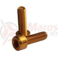 Suruburi aluminiu pentru suport bidon Fibrax aurii