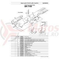 Suruburi de fixare Shimano BR-7700 M6 x 22.5