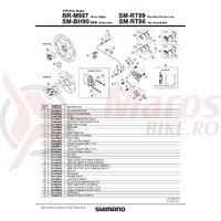 Suruburi de fixare Shimano BR-M987 M6 x 36.3