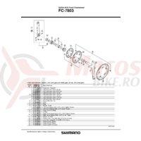Suruburi de fixare Shimano FC-7803 M8 x 9.5 5 sets
