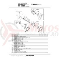 Suruburi de fixare Shimano FC-M800 M8 x 10.5 4 sets