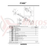 Suruburi de fixare Shimano FC-M980 M8x10.65 4 buc.