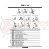 Suruburi de fixare Shimano SM-RT75 disc rotor fixing bolt & plate