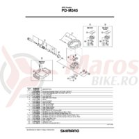 Suruburi lock bolt Shimano PD-M545 Dreapta