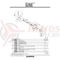 Suruburi M8x7 & piulita Shimano FC-M820 (4 seturi)