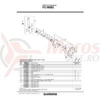 Suruburi pentru fixare foaie Shimano FC-M985 M8X7 4 buc.