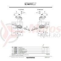 Suruburi prindere capac Shimano SL-M670-I