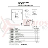 Suruburi prindere capac Shimano SL-M780