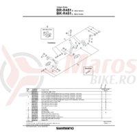 Suruburi Shimano BR-R451 M4x12.5