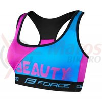 Sutien sport Force Beauty albastru/roz
