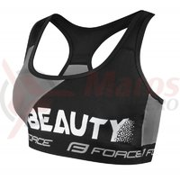 Sutien sport Force Beauty negru/gri