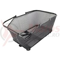 System basket Atranvelo Daily L 28l 50x20x32cm, black, incl. AVS adapter