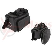 system bicycle bag Atranvelo Zap 33x20x16cm, grey, incl. AVS adapter
