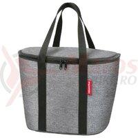Geanta termica KLICKfix f. handlebar basket twist silver, 34 x 26 x 25cm