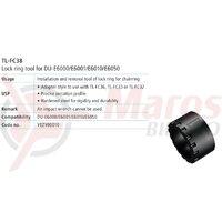 TL-FC38 cheie Shimano pt. montat/demontat cuvete butuc pedalier DU-E6000/DU-E6001