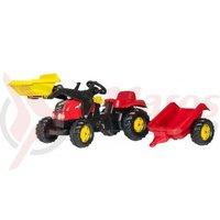 Tractor cu pedale Rolly Kid copii 2-5 ani rosu