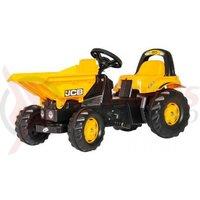 Tractor cu pedale Rolly Kid Dumper JCB copii 2-5 ani