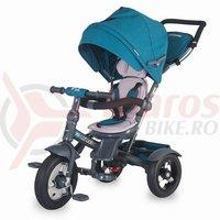 Tricicleta Coccolle Giro Plus multifunctionala albastra