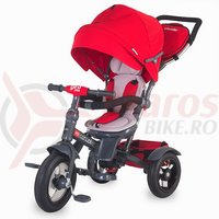 Tricicleta Coccolle Giro Plus multifunctionala rosie