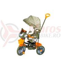 Tricicleta DHS Jolly Ride kaki/portocaliu