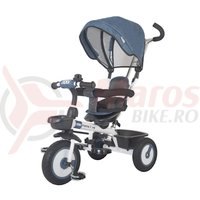 Tricicleta multifunctionala MamaLove Rider albastra