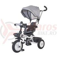 Tricicleta multifunctionala MamaLove Rider gri