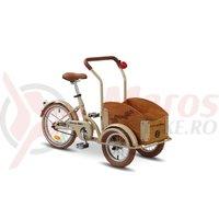 Triciclu Pegas Mini Cargo 1S crem aluna