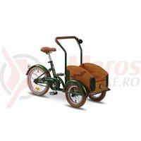 Triciclu Pegas Mini Cargo 1S verde smarald